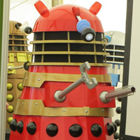The Red Dalek Dolly Attends Magna Near Meadowhall