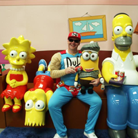 Have your photo taken on The Simpsons Sofa