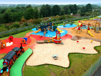 Theres a Huge Adventure Playground For the Kids!